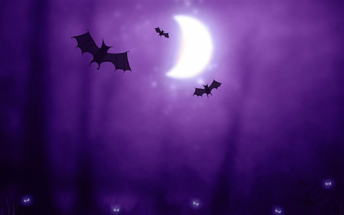 bats-2012 Happy Halloween theme Wallpapers Views:5280