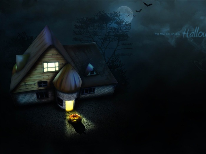 house-2012 Happy Halloween theme Wallpapers Views:5337