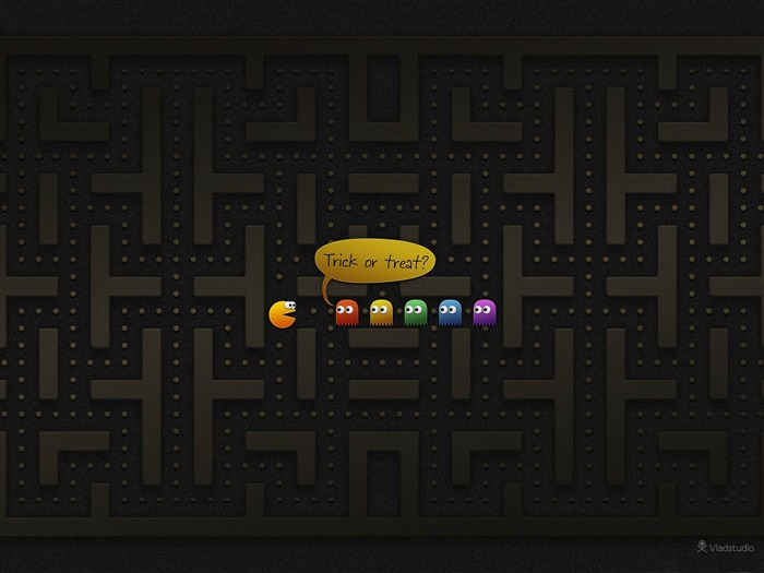 pacman-2012 Happy Halloween theme Wallpapers Views:6374