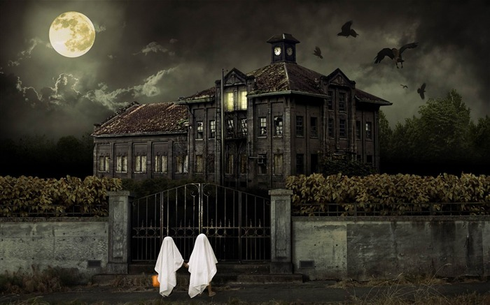 scary house-2012 Happy Halloween theme Wallpapers Views:14063