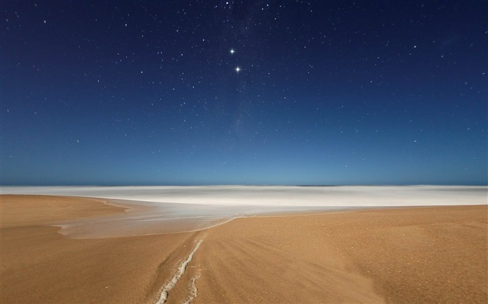 Beach and Stars-2012 landscape Selected Wallpaper Views:7662