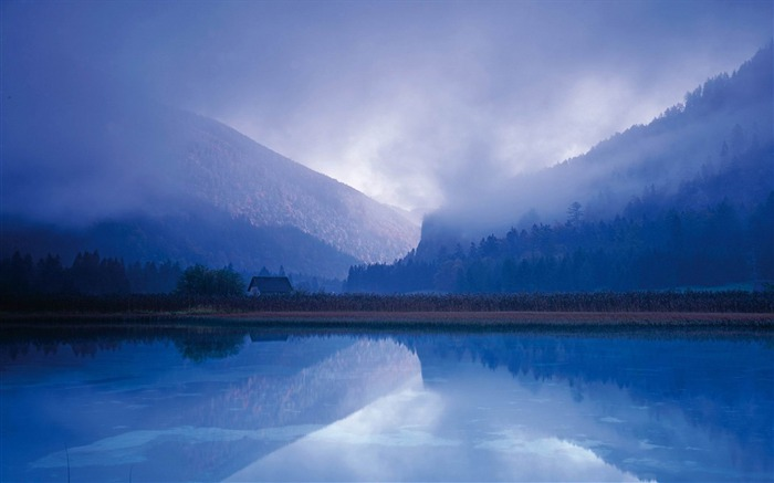 Early morning lake mist-2012 landscape Selected Wallpaper Views:9482