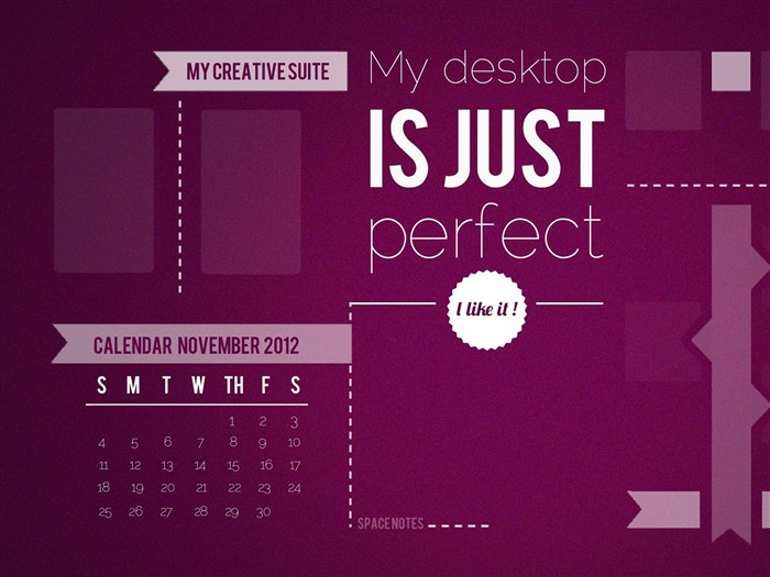 Perfect Desktop-November 2012 calendar wallpaper Views:5420