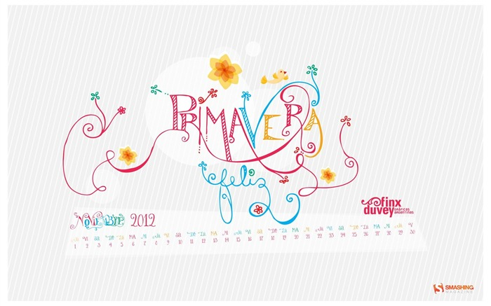 Primavera-November 2012 calendar wallpaper Views:3759