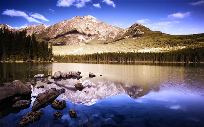 Reflective Mountains-2012 landscape Selected Wallpaper Views:4041