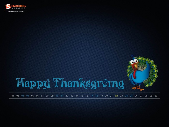 Thanksgiving-November 2012 calendar wallpaper Views:4689