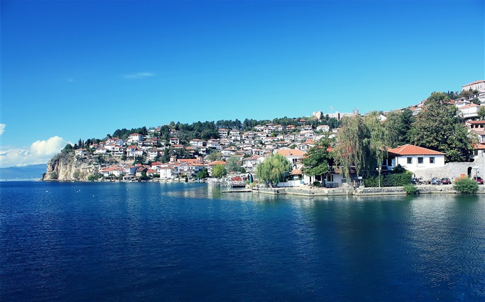 The Macedonian Ohrid the old town-Small fresh landscape wallpaper Views:23618