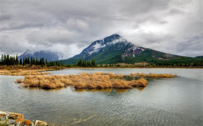 vermilion lakes-nature scenery wallpapers Views:4935