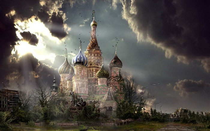 Abandoned Kremlin-Aftermath world illustrator wallpaper Views:4979