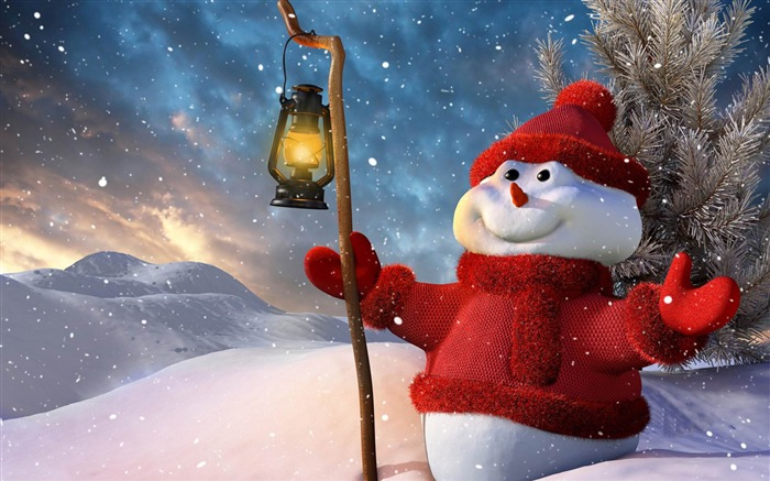 Aesthetic cute snowman Christmas HD wallpaper Views:31645