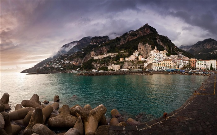 Amalfi Coast Italy-Natural landscape Photography Wallpaper Views:6835