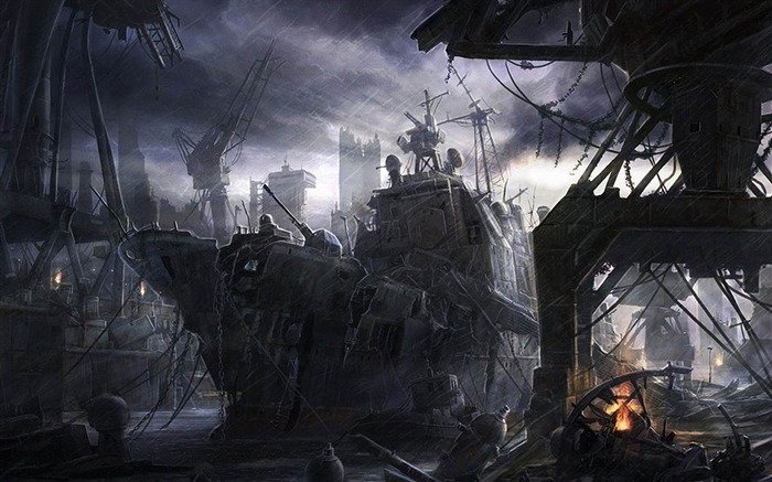 Dark world after robbery-Aftermath world illustrator wallpaper Views:3448