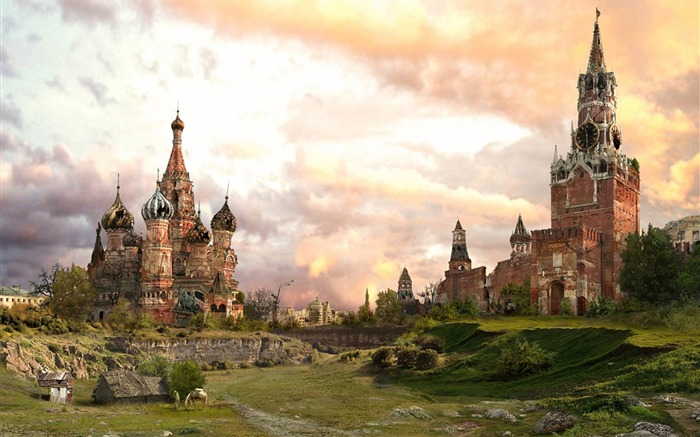Doomsday Kremlin after winter-Aftermath world illustrator wallpaper Views:3663
