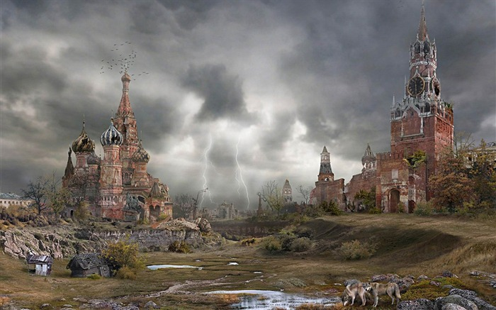 Doomsday after Kremlin autumn-Aftermath world illustrator wallpaper Views:5513