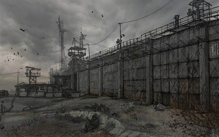 Doomsday bunker-Aftermath world illustrator wallpaper Views:4349