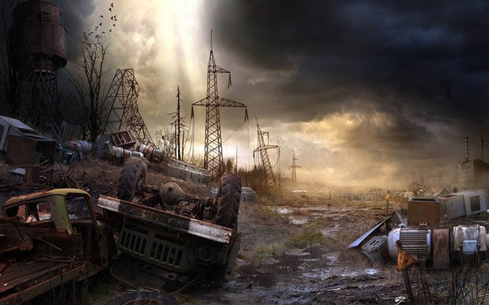 Garbage dump after doomsday-Aftermath world illustrator wallpaper Views:6455