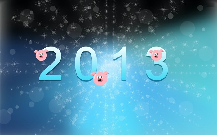Happy New Year 2013 theme Widescreen Wallpaper 01 Views:4253