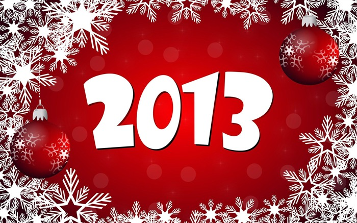 Happy New Year 2013 theme Widescreen Wallpaper 02 Views:5501