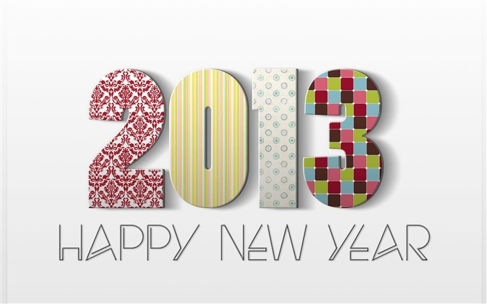 Happy New Year 2013 theme Widescreen Wallpaper 03 Views:5844