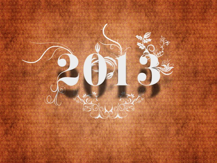 Happy New Year 2013 theme Widescreen Wallpaper 04 Views:3916