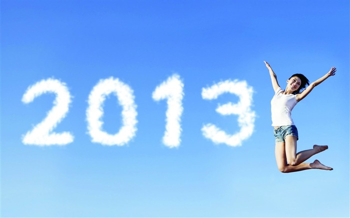 Happy New Year 2013 theme Widescreen Wallpaper 06 Views:4344