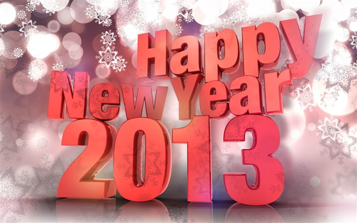 Happy New Year 2013 theme Widescreen Wallpaper 08 Views:4236