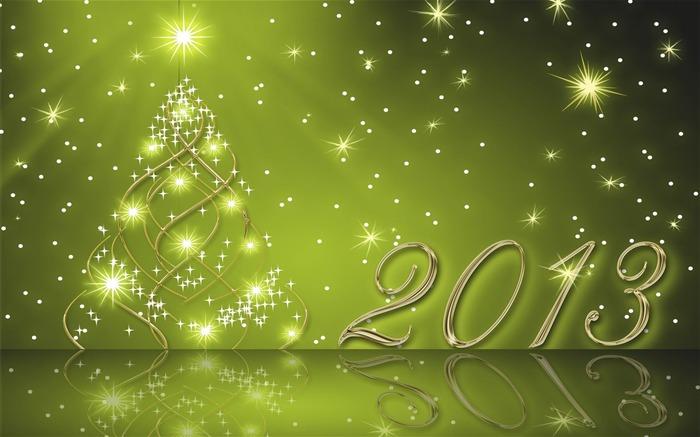 Happy New Year 2013 theme Widescreen Wallpaper 12 Views:4706