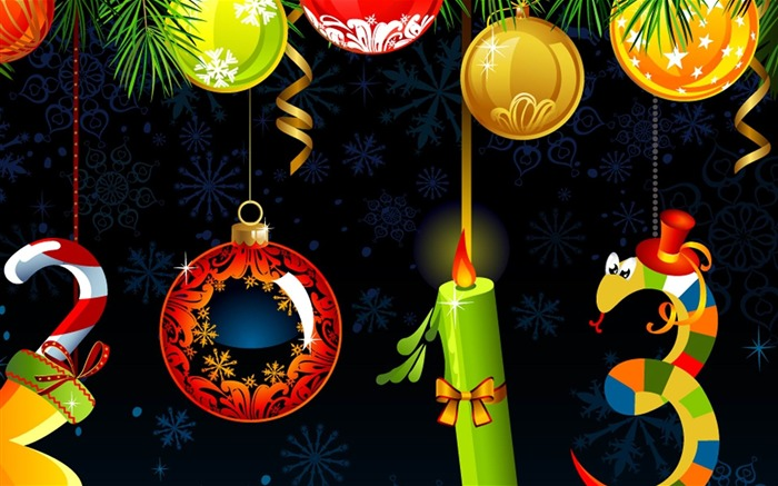 Happy New Year 2013 theme Widescreen Wallpaper 14 Views:4666