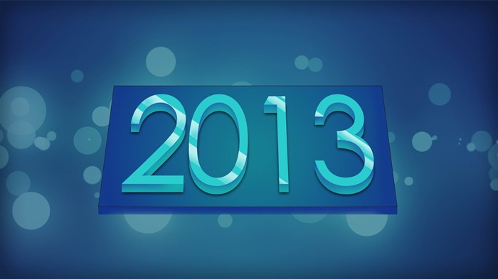 Happy New Year 2013 theme Widescreen Wallpaper 15 Views:4020