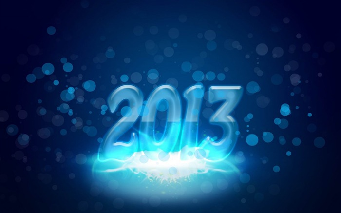 Happy New Year 2013 theme Widescreen Wallpaper 16 Views:2714