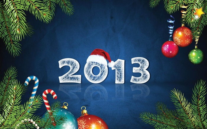Happy New Year 2013 theme Widescreen Wallpaper 18 Views:3353