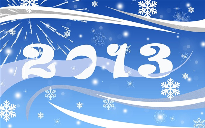 Happy New Year 2013 theme Widescreen Wallpaper 19 Views:2775