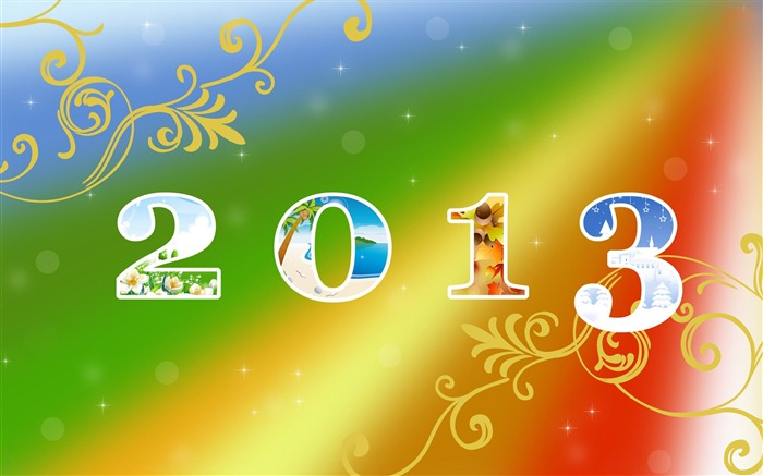 Happy New Year 2013 theme Widescreen Wallpaper 20 Views:2822