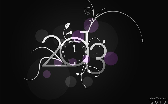 Happy New Year 2013 theme Widescreen Wallpaper 21 Views:3889