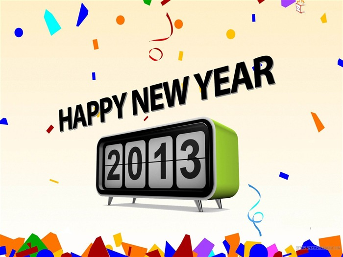 Happy New Year 2013 theme Widescreen Wallpaper 22 Views:3956