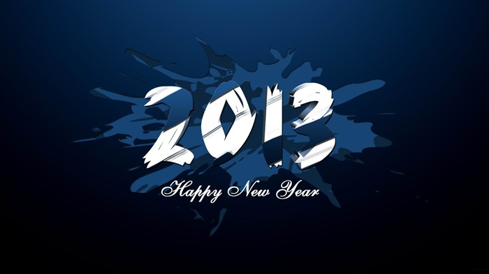 Happy New Year 2013 theme Widescreen Wallpaper 23 Views:2655