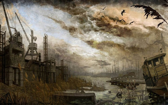 Industrial city after doomsday-Aftermath world illustrator wallpaper Views:16568