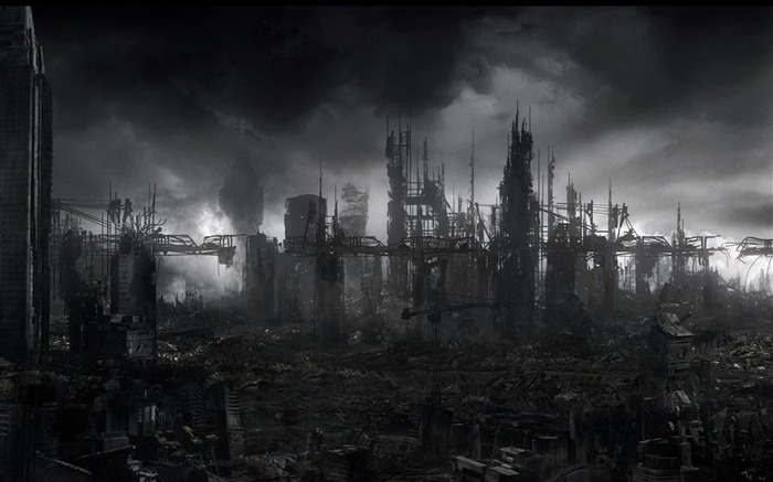Industrialized ruins-Aftermath world illustrator wallpaper Views:8070