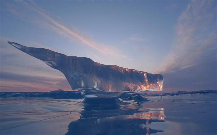 Melted iceberg-Natural landscape Photography Wallpaper Views:4962