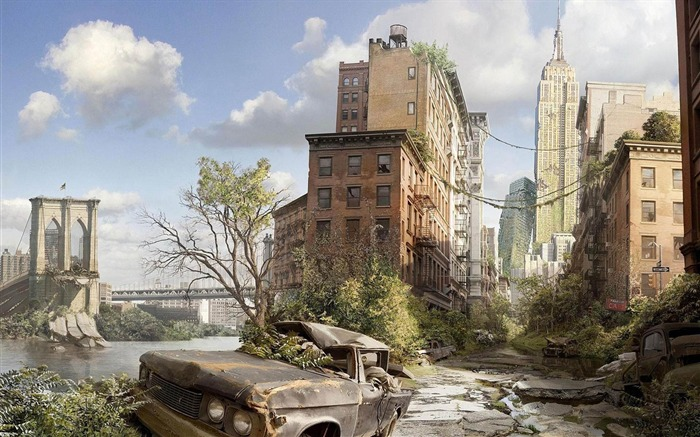New York ruins-Aftermath world illustrator wallpaper Views:3028