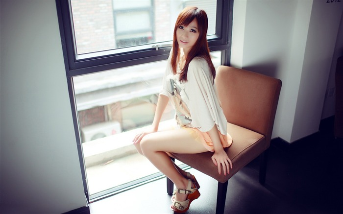 Pure leggy girls street shooting photo desktop wallpaper 11 Views:4656