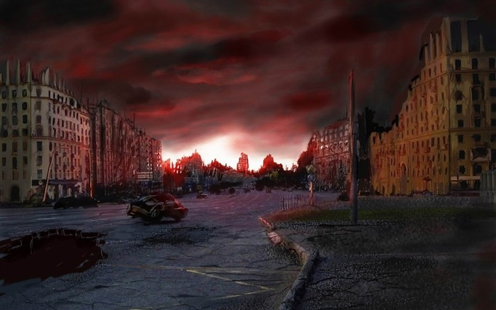 The doomsday After the city-Aftermath world illustrator wallpaper Views:5404