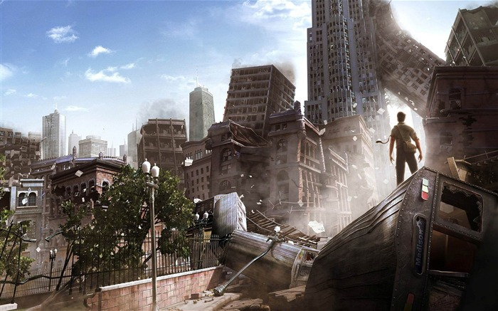 The doomsday After the metropolis-Aftermath world illustrator wallpaper Views:9835