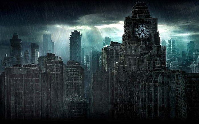 The doomsday in The London-Aftermath world illustrator wallpaper Views:7265