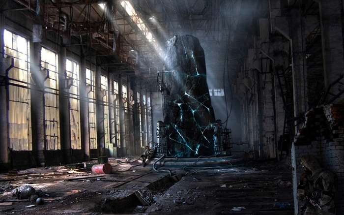 The ruins of the factory-Aftermath world illustrator wallpaper Views:31688