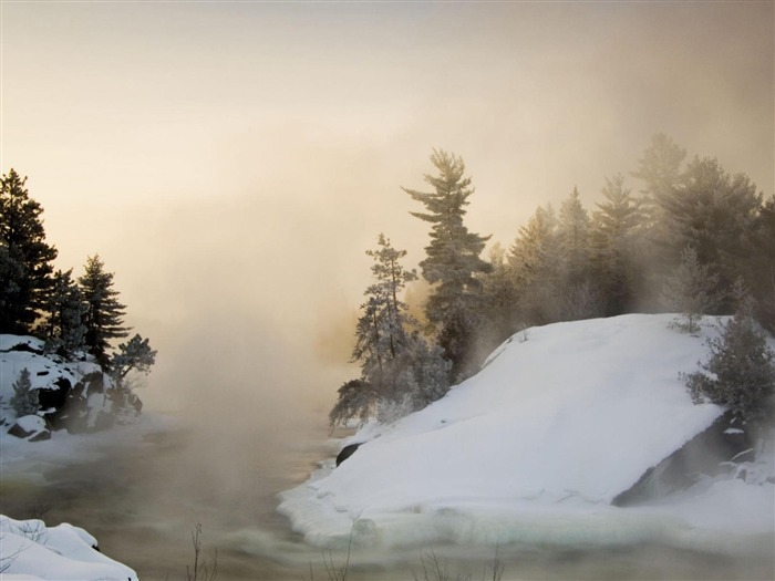 cold winter-beautiful winter landscape wallpaper Views:3612