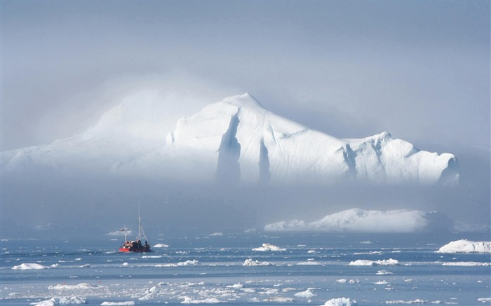 greenland ice mountain-Natural landscape Photography Wallpaper Views:5138