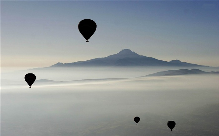 hot air balloons in the sky-Landscape with beat wallpaper Views:6460 Date:12/2/2012 10:56:32 AM