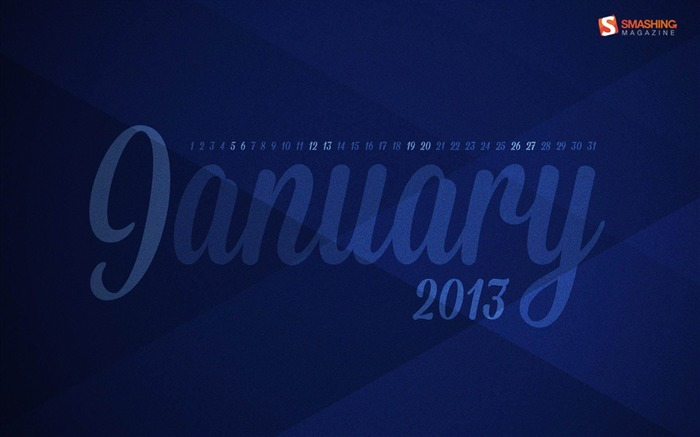 Blue Year-January 2013 calendar desktop themes wallpaper Views:5598 Date:1/1/2013 5:22:38 AM
