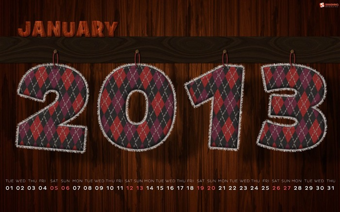 Cozy January-January 2013 calendar desktop themes wallpaper Views:5503 Date:1/1/2013 5:24:04 AM